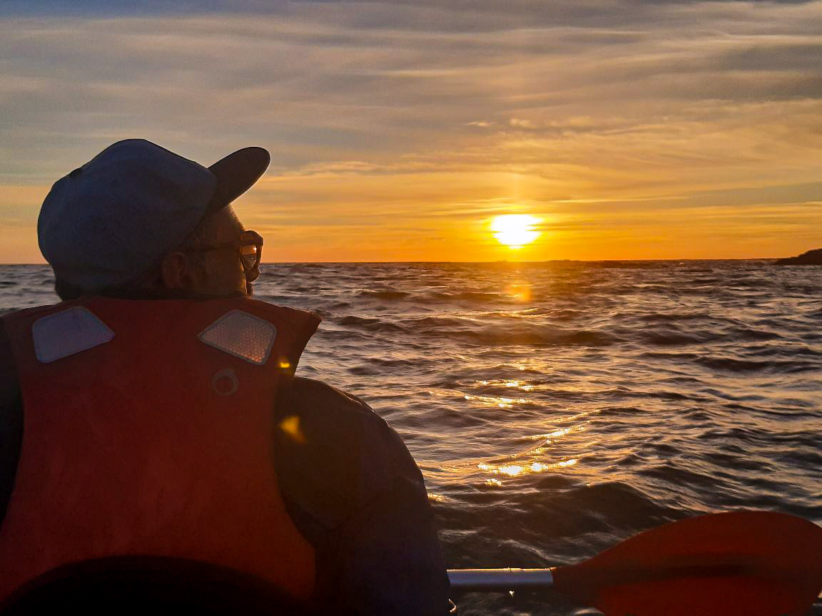 Kayak Nomade coucher de soleil