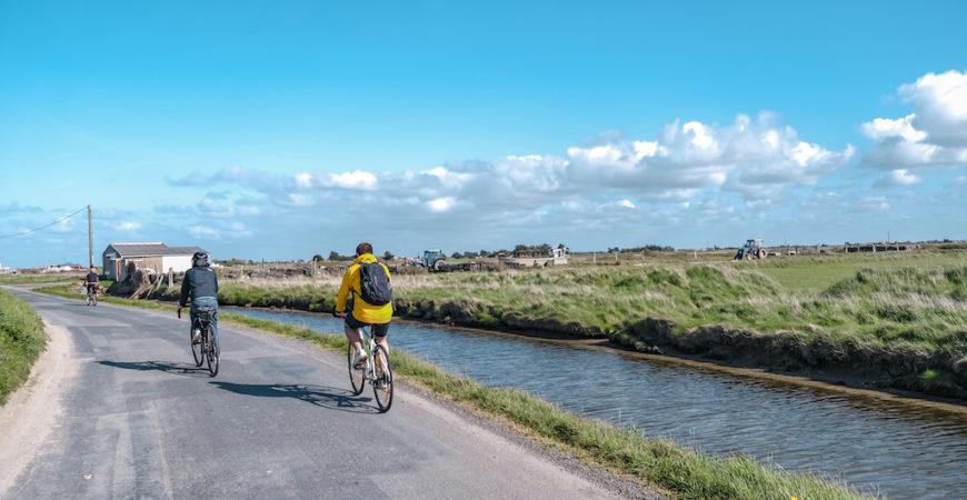 Balade à vélo dans les marais bretons